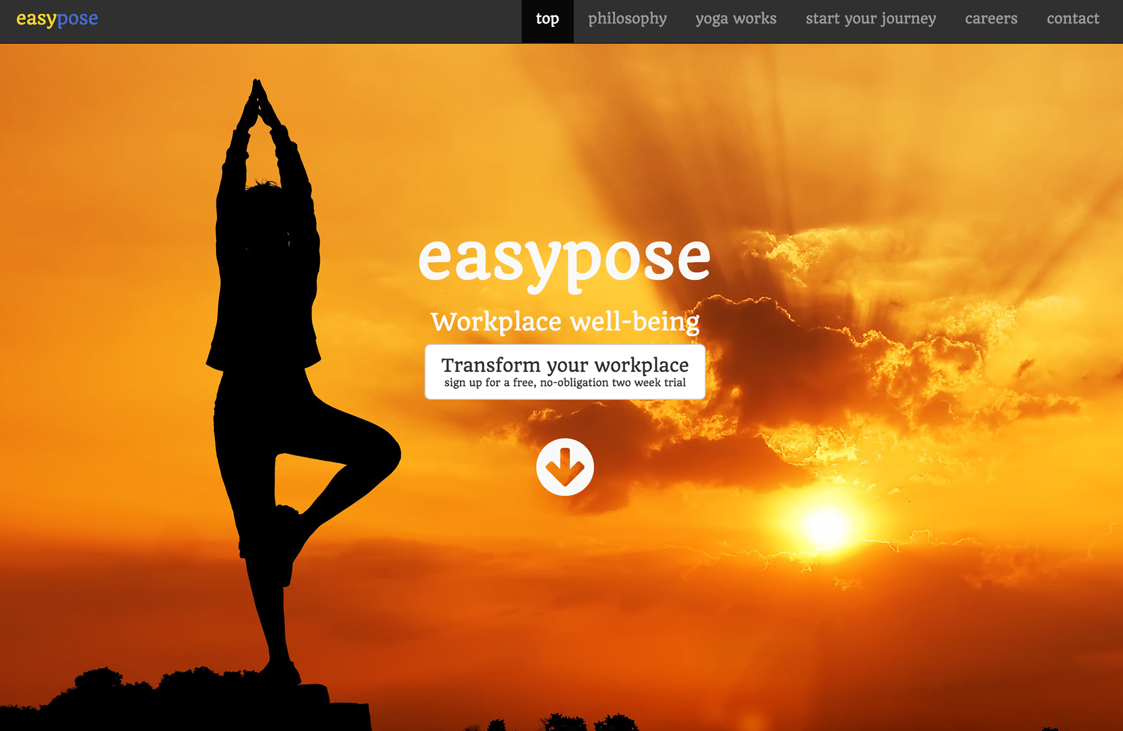 Screenshot of the Easypose website - Click to view the site