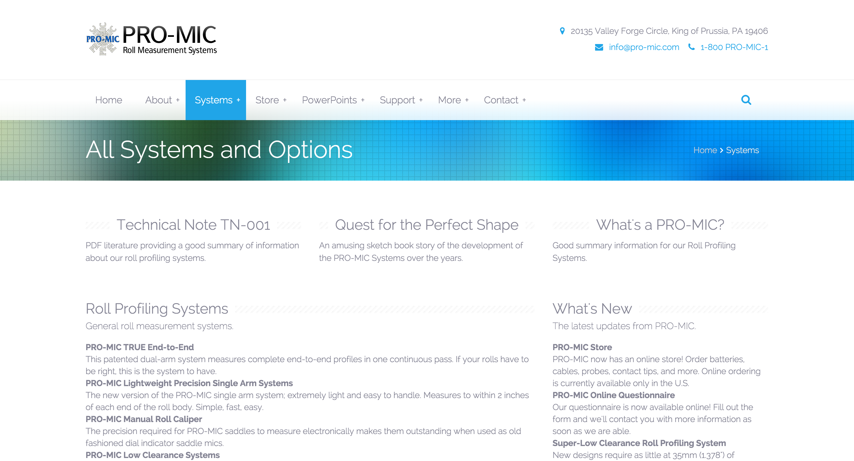 Screenshot of PRO-MIC 2016 Redesign - Click to view the the live site (in-development)
