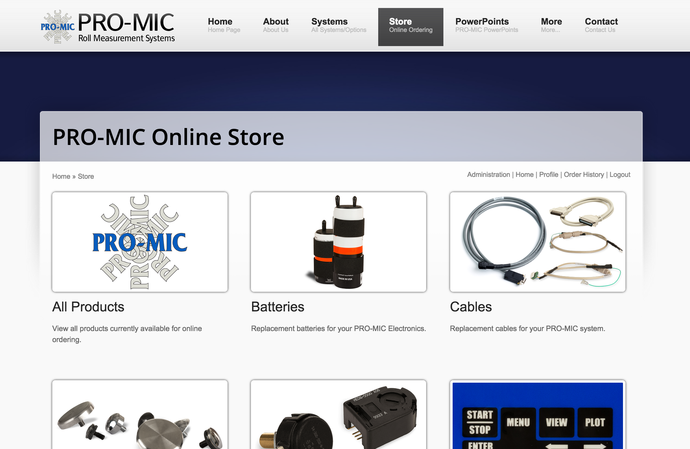 Screenshot of PRO-MIC Online Store - Click to view the store